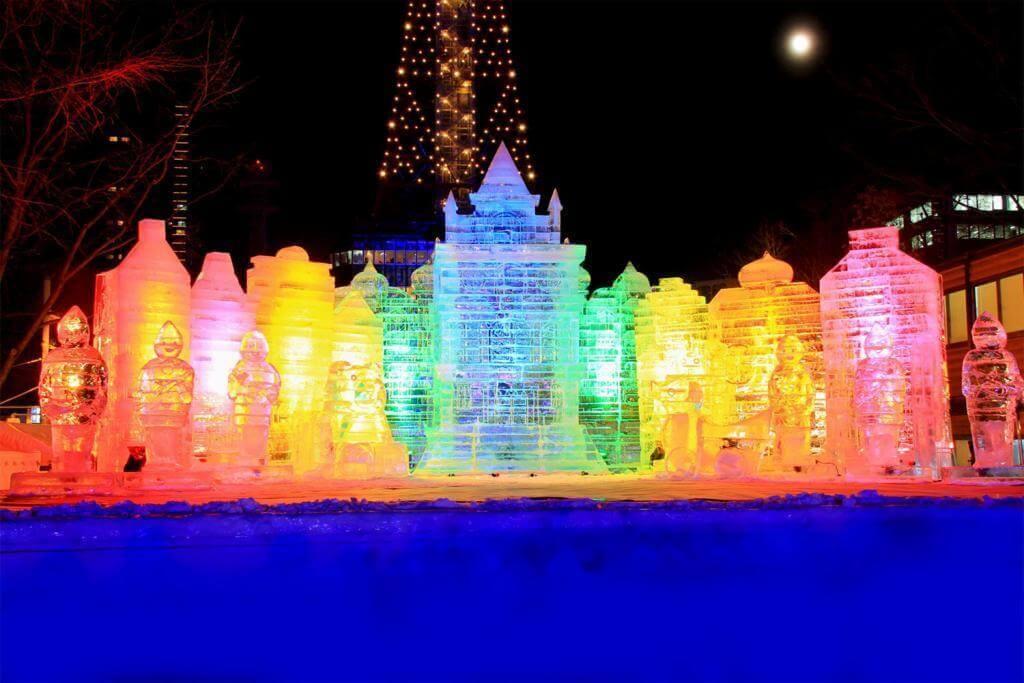 View of the Sapporo Snow Festival, Hokkaido