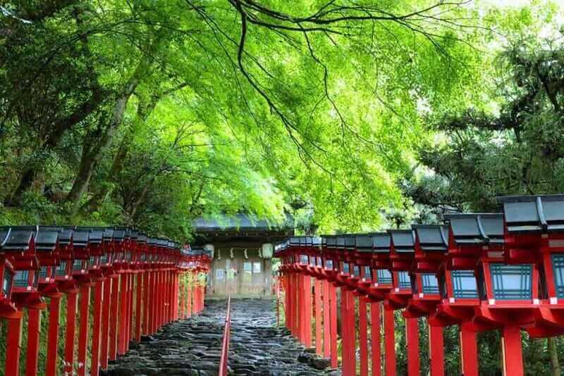 Kifune shrine in Kyoto where fresh green is beautiful