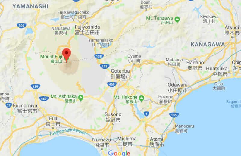 Map of Mt. Fuji