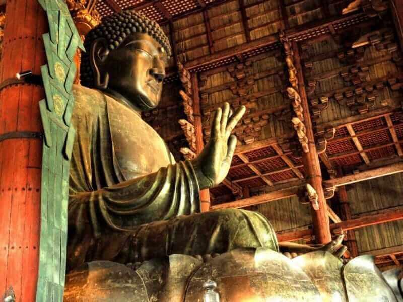 Great Buddha or Daibutsu, Todai-ji Temple or Roaming Deer its all belong to Nara city in Japan = shutterstock