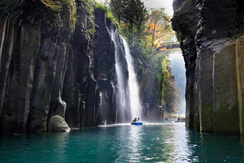 Manai Falls - Shrine of Japan,Takachiho Gorge = shutterstock
