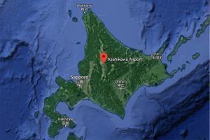 Map of Asahikawa Airport