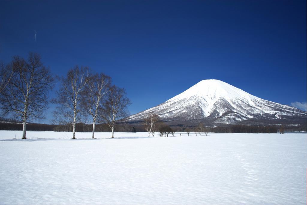 "Mount Yotei, so called ""Fuji of Hokkaido"", from Niseko ski resort, Hokkaido, Japan"