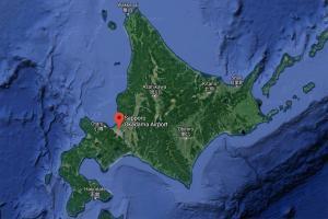 Map of Okadama Airport