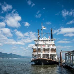 Lake Biwa'S Cruise Michigan.A = Shutterstockwonderful paddle boat, at Ohtsu port in Japan