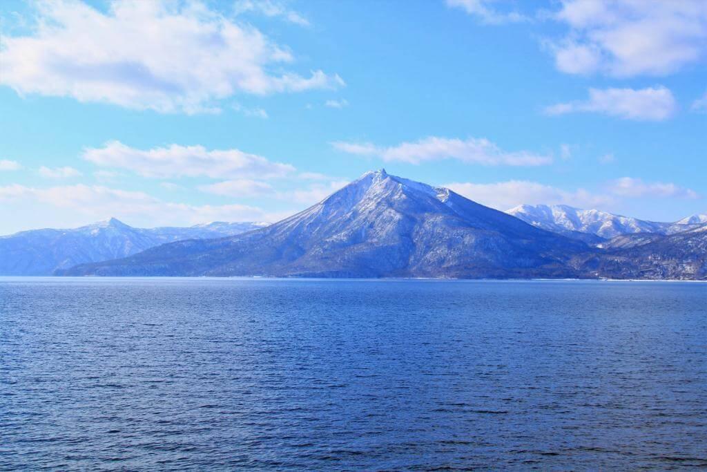 Lake Shikotsu and Mt. Eniwa, Hokkaido, Japan