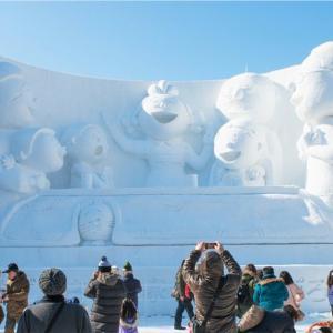 Snow sculpture at Sapporo Snow Festival site on February in Sapporo, Hokkaido, japan. The Festival is held annually at Sapporo Odori Park = Shutterstock