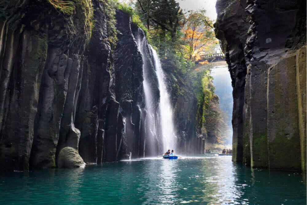 Takachiho gorge and waterfall in Miyazaki, Kyushu, Japan = Shutterstock