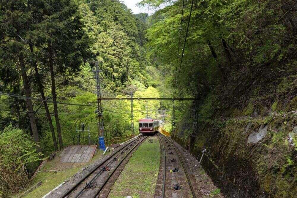 Funicular railway in Koyasan, Japan = Shutterstock