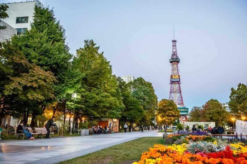 The scenery of Sapporo TV Tower, Sapporo = shutterstock