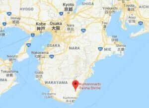 Map of Kumano Nachi Taisha Grand Shrine