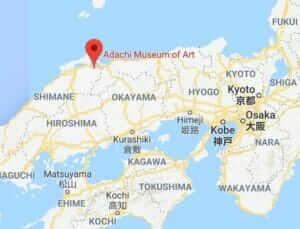 Map of Adachi Museum