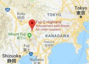 Map of Fuji-Q Highland