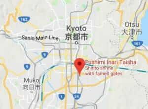 Map of Fushimiinari Taisha Shrine