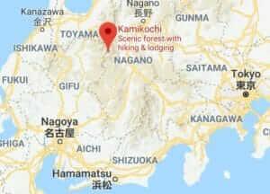 Map of Kamikochi