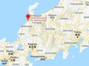 Map of Kenrokuen