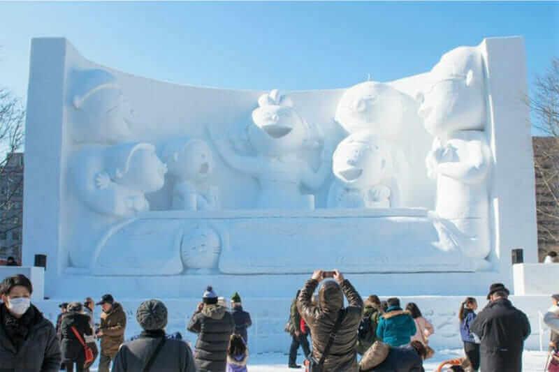 Sapporo Snow Festival at Odori Park = shutterstock
