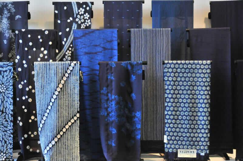 Textiel van indigokleurstof, prefectuur Tokushima