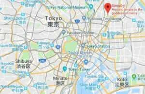 Map of Sensoji Temple
