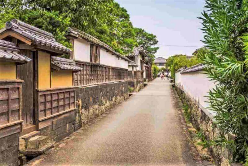 Хаги, Япония, улицы бывшего замкового города = shutterstock
