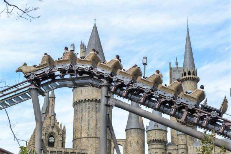 Universal Studios Japan (USJ) has lots of attractions. Osaka, Japan = Shutterstock