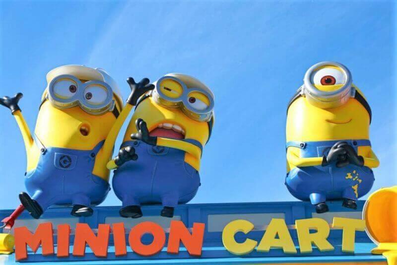 """HAPPY MINION MART"" shop, selling Minion Goods, located in Universal Studios JAPAN, Osaka, Japan"