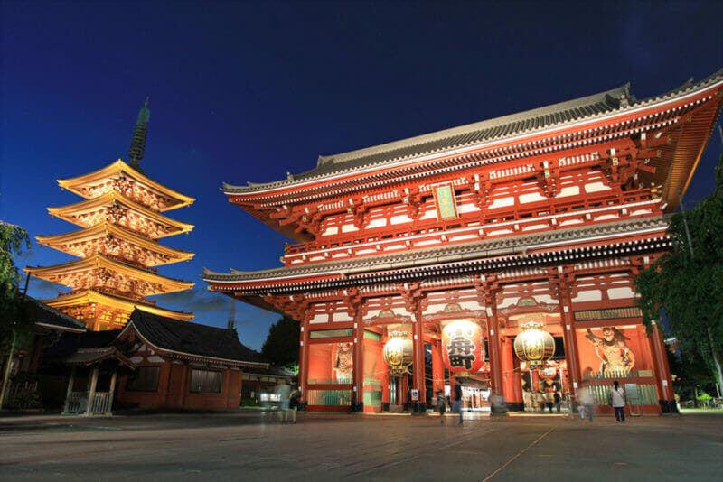 Храм Сэнсо-дзи, Асакуса, Токио, Япония = shutterstock