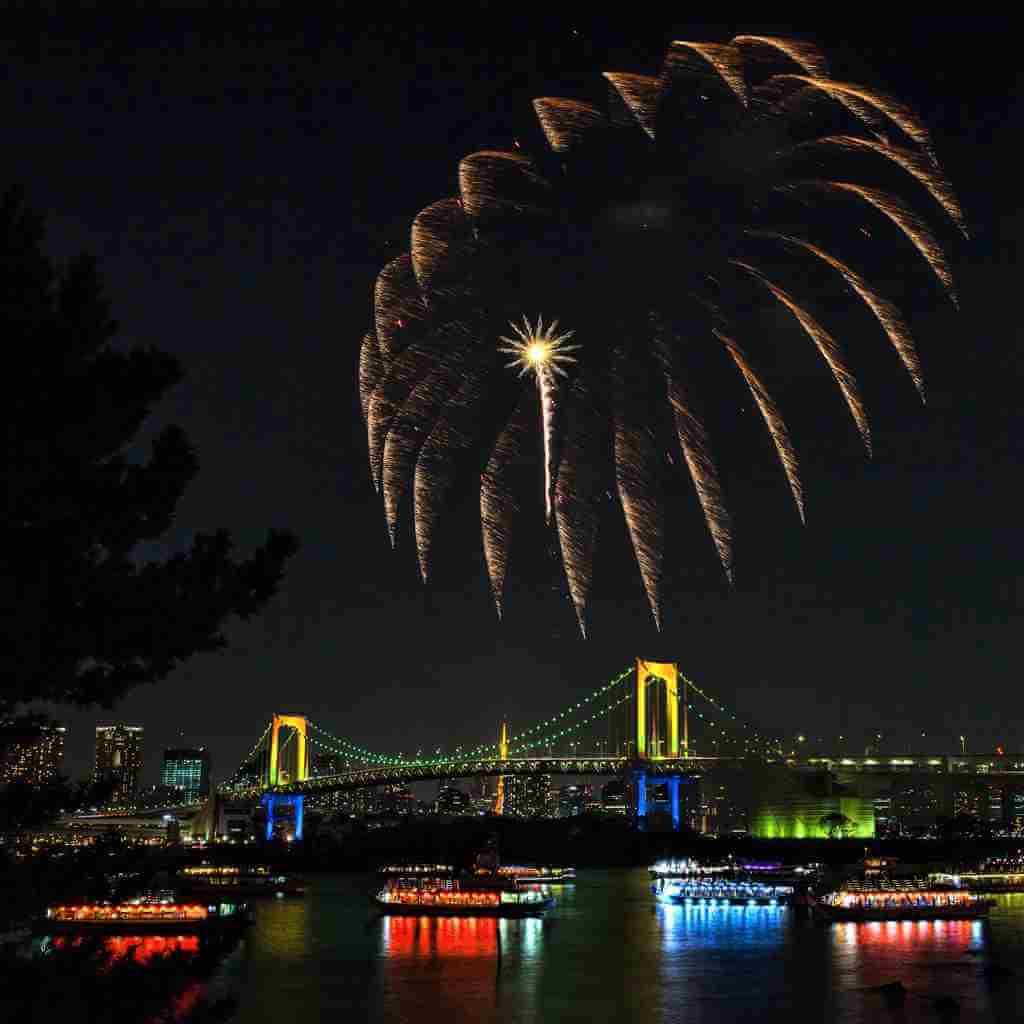 Feuerwerk in Odaiba, Tokio