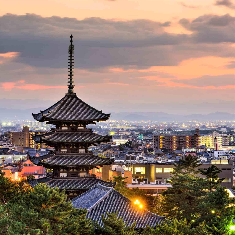 Scenery of Nara, the ancient capital of Japan 1
