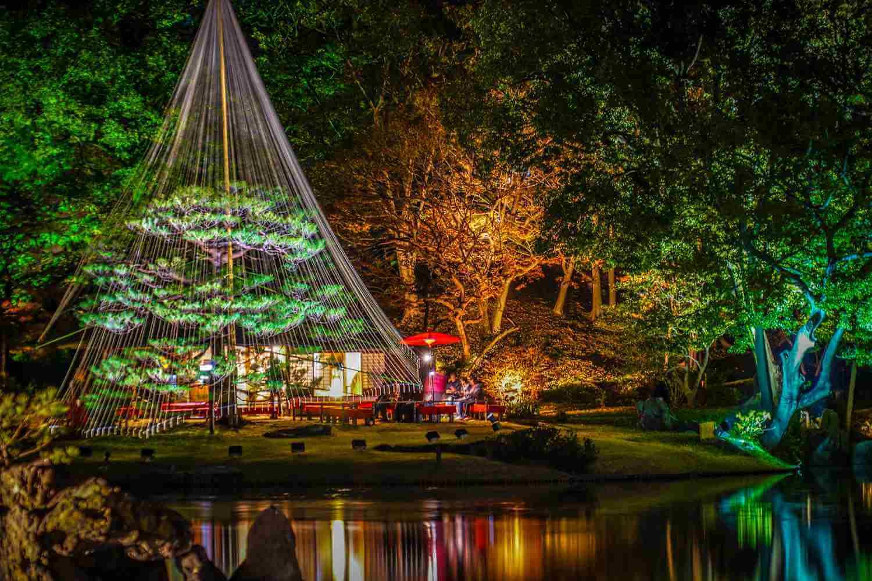 Осеннее освещение в саду Rikugien, Токио, Япония = Shutterstock