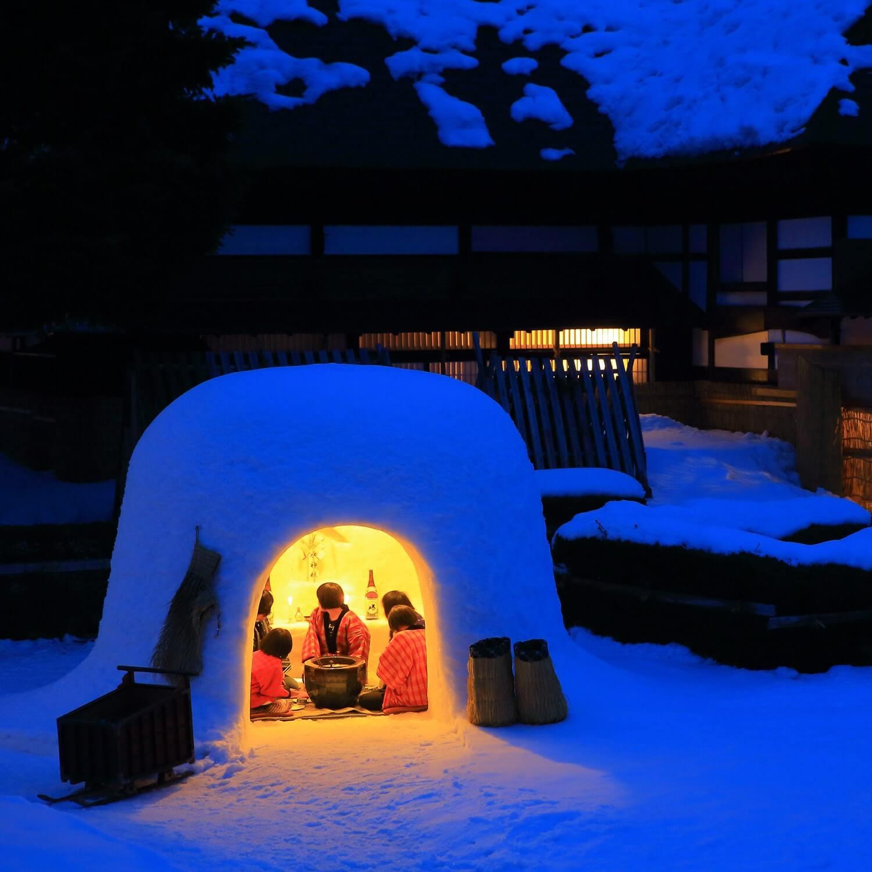 """Kamakura"" at Yokote Snow Festival, Yokote City, Akita Prefecture = AdobeStock 1"