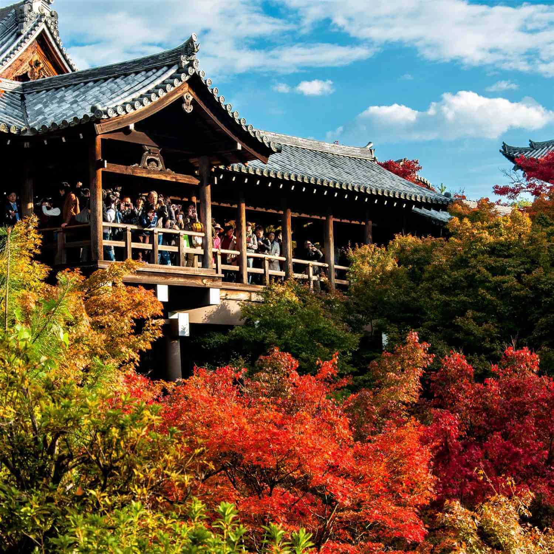 Autumn colors at Tofukuji Temple, Kyoto = Shutterstock 1