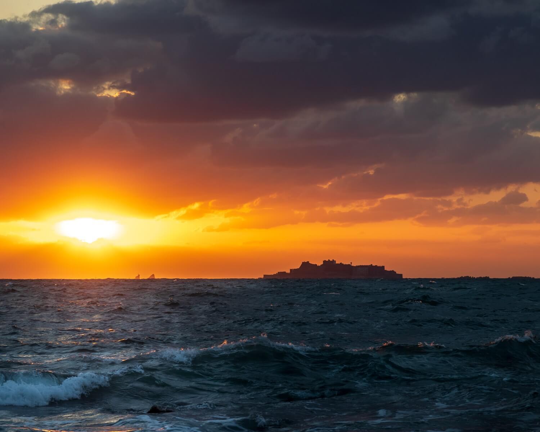 Gunkanjima Island in Nagasaki Prefecture, Kyushu = Shutterstock 1