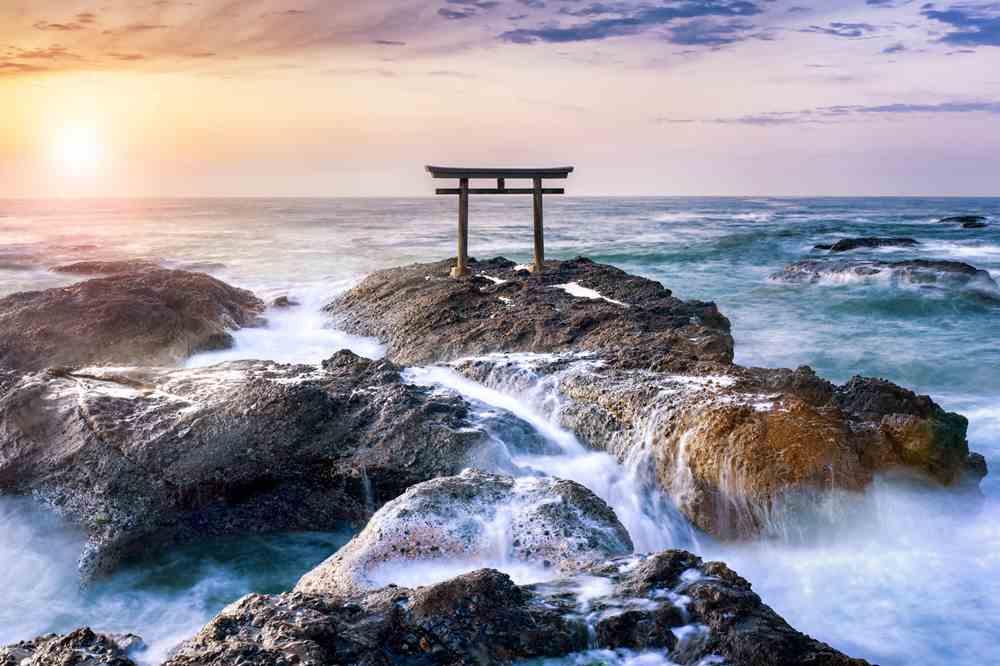 """Kamiiso no Torii Gate"" at Oarai-Isosaki Jinja Shrine, Ibaraki Prefecture = Shutterstock"