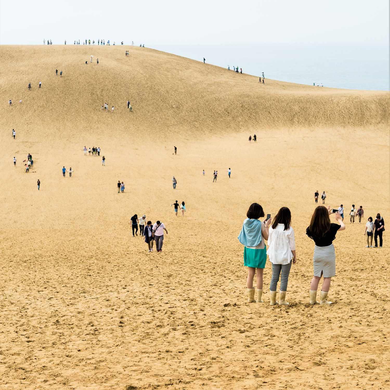 Tottori Sand Dunes in Tottori Orefecture = Shutterstock
